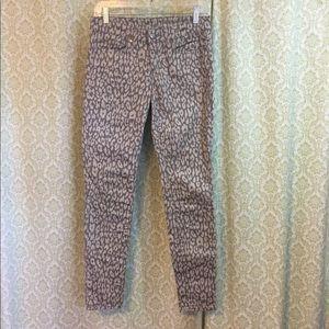 GAP 1969 Premium super skinny leopard print jeans